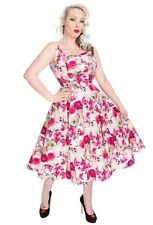 Hearts Roses Plus Size Samantha Dress Retro Vintage PinUp Rockabilly Floral Pink