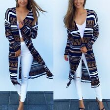 Summer Women Boho Bikini Cover Up Long Cardigan Tops Long Sleeve Blouse Beach UK