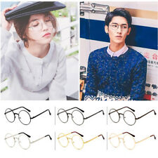 Retro Big Round Women Men Metal Frame Clear Lens Glasses Designer Nerd Eyewear