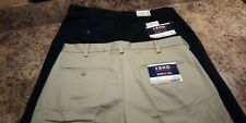 MEN'S IZOD HERITAGE CHINO SMOOTH TOUCH KHAKI PANTS-CLASSIC FIT OR SLIM FIT