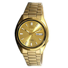 Seiko 5 Automatic Mens Analog Watch Casual Gold Band SNKH32J1
