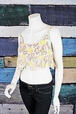 NEW Intimately Free People Cream Floral Eyelet Lace Boho Crop Top Bralette S M