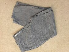 VERY GOOD CONDITION BLACK DOGTOOTH EX-RENTAL CHEFS TROUSER SIZE XSMALL TO XXXL