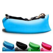 Lazy Inflatable Air bed Couch Sleeping Chair Sofa Lounger Bag Camping Beach Chil