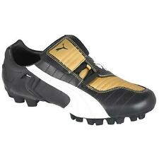 Mens PUMA V-KON III GCI FG Black Leather Football Boots 101726 02