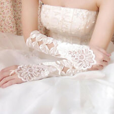 New ivory white Lace Long Fingerless Wedding Accessory Bridal Party Gloves