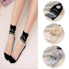 Women Cotton Comfy 1 Pairs Ankle Socks New Knit Mesh Elastic Lace Sock