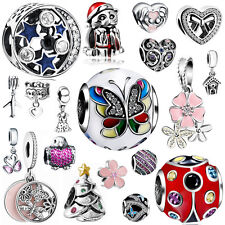 925 European Sterling Pendant Silver Charms Beads for Lot Bracelet Necklace US19