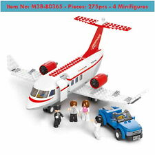 DIY Collection- Red Private Aircraft -275p-4figures- Kids Toys- Lego -Simcity