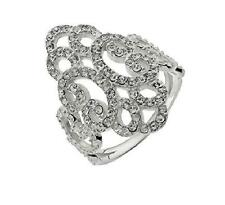 925 Sterling Silver & cubic zirconia vintage style filigree statemet ring gothic