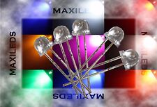 50x 5mm LED Strawhat very bright LEDs Resistor 5mm