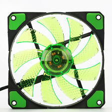120mm 3/4-pin Computer Case PU Bearing Cooler Cooling Fan Mod with LED Light ♡
