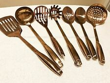 NEW Copper Cooking Utensils Turner, Masher, Slotted  Solid Spoon Premium QUALITY