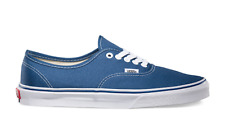 VANS AUTHENTIC CLASSIC CANVAS Unisex Skate Shoes Navy Blue Men's Womens Sneakers