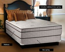 Fifth Ave Plush Foam Encased Eurotop Mattress Only and Mattress & Box Spring set