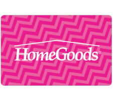 HomeGoods Gift Card - $25 $50 or $100 - Fast email delivery