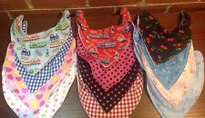 ADULT / SPECIAL NEEDS  PATTERNED  BANDANA DRIBBLE BIB (new larger size)