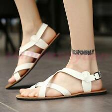 Summer Sandals Flip Flops Gladiator Mens Thong Roman Strap Beach Casual Shoes