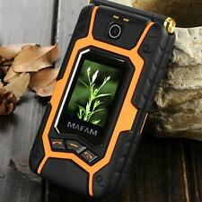 Land flip cell dual screen GPRS touch sim card standby cellphone mobile phone
