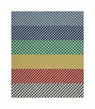 "1/8"" GINGHAM CHECK FABRIC COTTON   Per Metre Black Blue Royal Green Red Yellow"