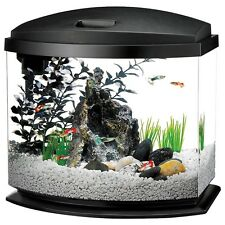 AQUEON LED MINI BOW DESKTOP BLACK AQUARIUM KIT FRESH WATER TANK