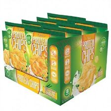 Quest Nutrition QUEST CHIPS Box Of 32gx8Pack, Baked Protein - BBQ Or Sea Salt