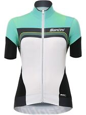 Santini Green 2017 Queen Of The Mountain Womens Short Sleeved Cycling Jersey