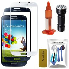 Front Screen Glass Lens Replacement+ToolUV Light Glue For Samsung Galaxy S4 AT&T