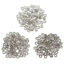 100pcs Tibetan Silver Spacer Beads fit Charm Chain Crafts DIY Jewelry Findings