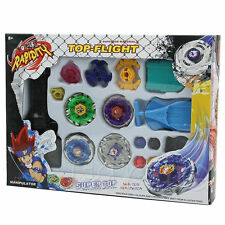 Metal Master Fusion Top Rapidity Fight Rare Beyblade 4D Launcher Grip Set BT