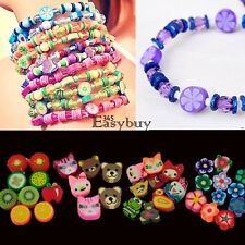 100 PCS Clay Beads DIY Slices Mixed Color Fimo Polymer Clay EY6E01