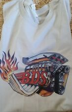 Men's White Silver Blue Heather BDS Engine Blower Tee T Shirt L Large XL New 2XL