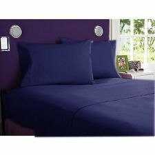 BEDDING SHEETS COLLECTION  1000TC 100%EGYPTIAN  COTTON NAVY BLUE SOLID ALL SIZE