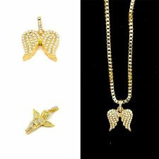 Angel Wings Wedding Little Angel Alloy Chain Crystal Pendant Necklace