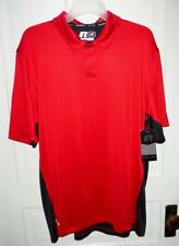 Mens Russell Dri-Power 360 Performance Vented Active Polo Shirt Red Black NWT