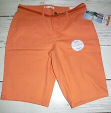 Lee Riders Women's Mid-Rise Stretch Bermuda Shorts Cadmium Orange