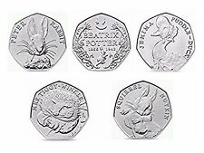 Beatrix Potter 50p UNCIRCULATED Puddle Duck Tiggy Winkle Squirrel Nutkin Peter.