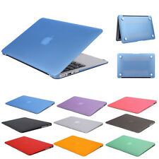 """New For Macbook Pro Air 11""""13"""" 15"""" Rubberized Laptop Case Back Cover Sleeve Bag"""