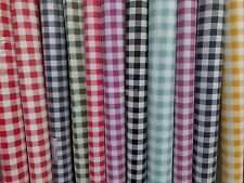 2m Gingham Checks Oilcloth PVC Tablecloth Fabric Picnic Resturant Dining Cloth