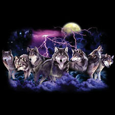 Leader Of The Pack Wolf Lightning Wolves Moon Cool T-Shirt Tee
