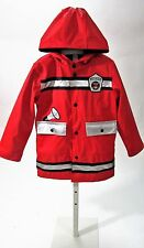Wippette Kids Red Firefighter Raincoat Sz 4, 5, 6 NWT
