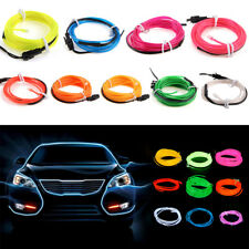 3M 9FT Neon LED Light Glow EL Wire String Strip Rope Tube Car Dance