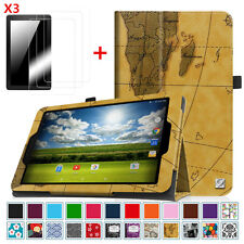 Sprint Slate 8 Inch (AQT80) 4G LTE Tablet Case Cover + 3 Pcs Screen Protector