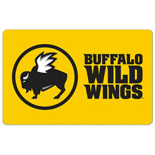 Buffalo Wild Wings Gift Card - $25 $50 or $100 - Fast Email delivery