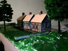SIX old Tudor Thatched Cottages - Card Kits - HO/OO, N, Z Gauge 1:100
