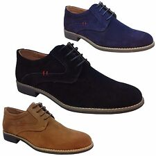 Mens Formal Shoes Smart Casual Lace Up Fashion Suede Desert Trainers Boots Size
