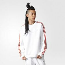 adidas Originals MODERN CREW MENS SWEATSHIRT Ribbed Cuffs,White-Size L,XL Or 2XL