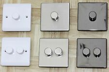 Trailing Edge LED dimmer switch 2 gang 2 way flat brushed chrome black nickel