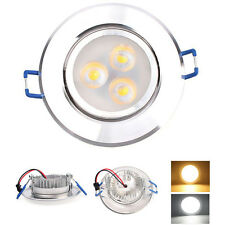 3W LED Recessed Ceiling Light Dimmable Downlight Warm Cool White Spot Lamp #