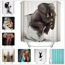 "1 x Custom Funny Bathroom Shower Curtain Polyester Fabric Waterproof 72""x72"" 01"